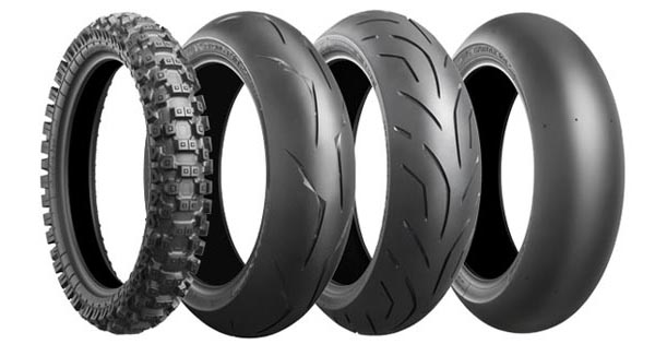 Larges pneus motos